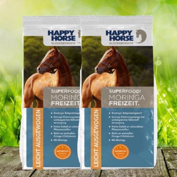 "Happy Horse Superfood ""Moringa Freizeit"" - 2 x 14 Kg"