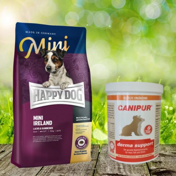 Canipur Derma Support 500 g + Happy Dog Sensible Mini Irland 4 kg - Ihr Rundum-sorglos-Paket