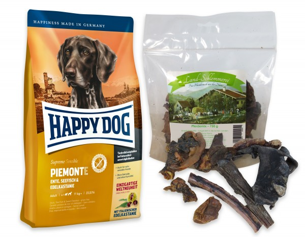 Pferde Mix 750 gr. + Happy Dog Sens. Supreme PIEMONTE 10 kg