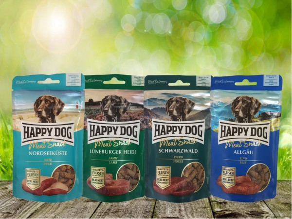 Happy Dog Meat Snack 4 x 75 g sortiert