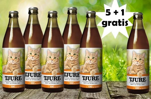 TJURE für Katze - Rind & Kartoffel 5 +1 GRATIS
