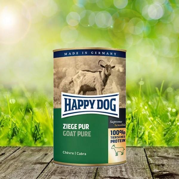 Happy Dog Dosen Ziege Pur 12 x 400 gr.