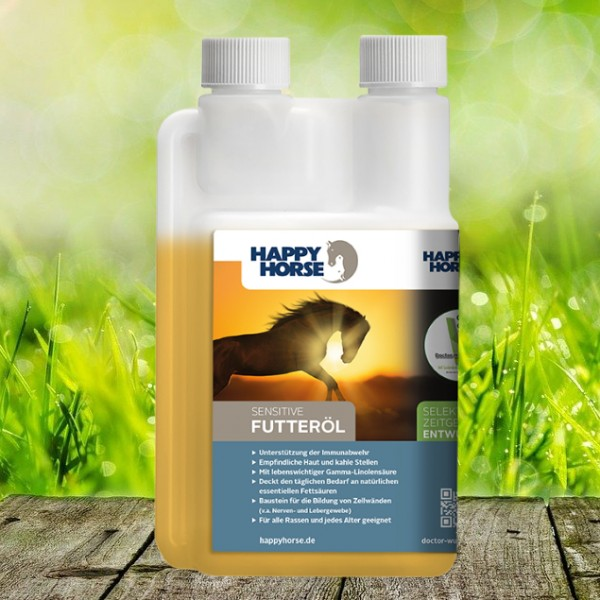 Happy Horse Sensitive Futteröl 500 ml - geeignet auch als Energiespender für Brieftauben!