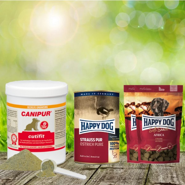 Canipur cutifit 500 g + 2 HD Soft Snack Afrika + 1 HD Strauß pur 400 g