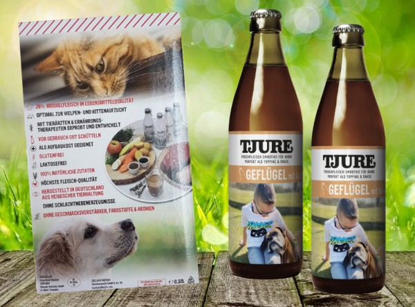 TJURE für Hunde - Doppelpack Geflügel & Kartoffel