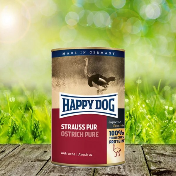 Happy Dog Dosen Strauß Pur 12 x 400 gr.