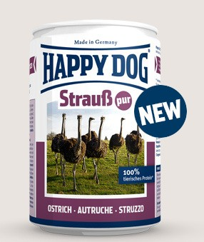 Happy Dog Dosen Strauß Pur