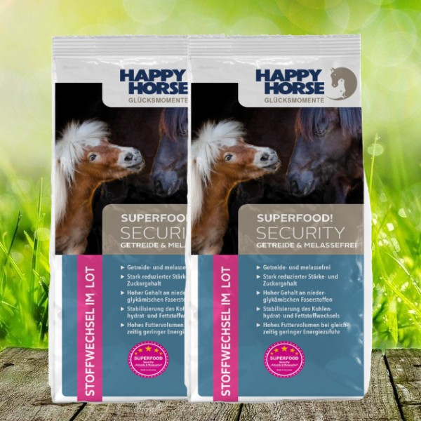 "Happy Horse Superfood Security ""Getreide- u. Melassefrei"" (Sensitive Security) - 2 x 14 Kg"