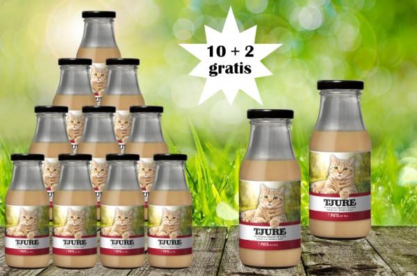 TJURE für Katze - Pute & Reis 10 + 2 GRATIS
