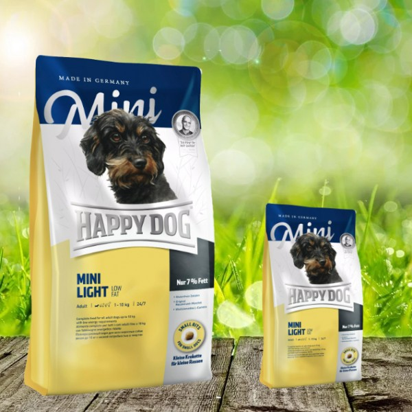 Happy Dog Mini Light Low Fat 4 kg + 1 kg *Gratis*