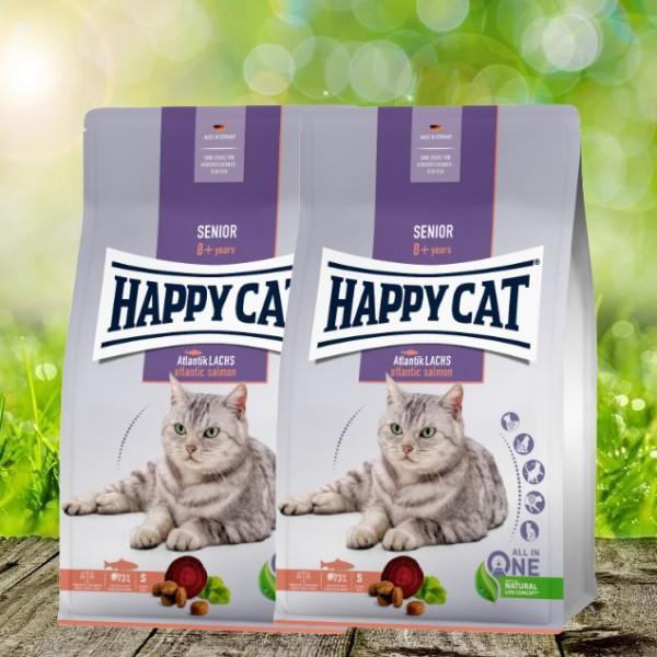 Happy Cat Senior Atlantik-Lachs 2 x 4 kg *NEU*