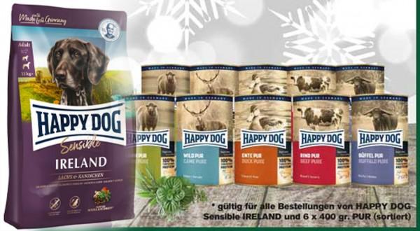Happy Dog Supreme Ireland 12,5 kg und 6 x 400 gr. Pur Dose Happy Dog sortiert