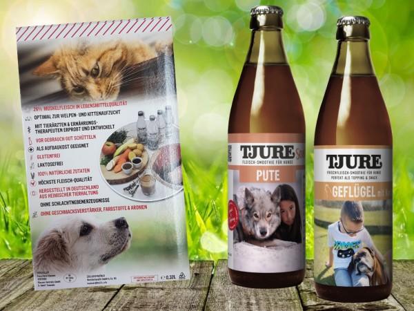 TJURE für Hunde - Mixpaket Pute & Reis + Geflügel & Kartoffel