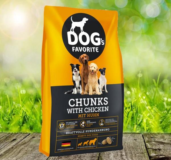 Dog´s Favorite Chunks mit Huhn 15 kg