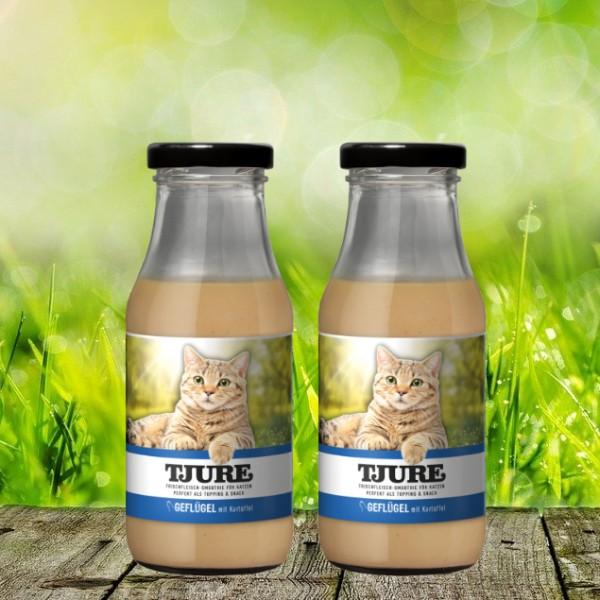 TJURE für Katze - Doppelpack Geflügel & Kartoffel