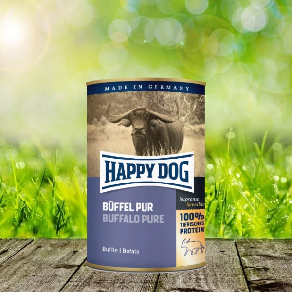 Happy Dog Dosen Büffel Pur 6 x 800 Gramm