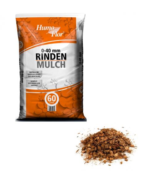 Humo Flor Rindenmulch 0-40mm in 60 Liter