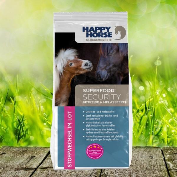 "Happy Horse Superfood Security ""Getreide- u. Melassefrei"" (Sensitive Security) 14 kg"