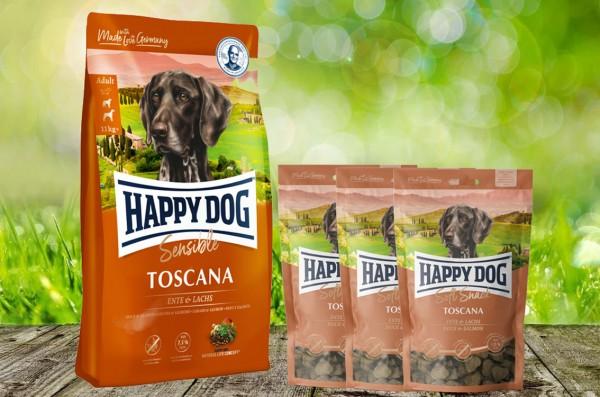 Happy Dog Supreme Toscana 12,5 kg + 3 x 100 g. Happy Dog Soft Snack Toscana geschenkt