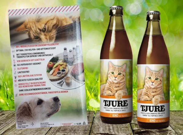 TJURE für Katze - Doppelpack Rind & Kartoffel