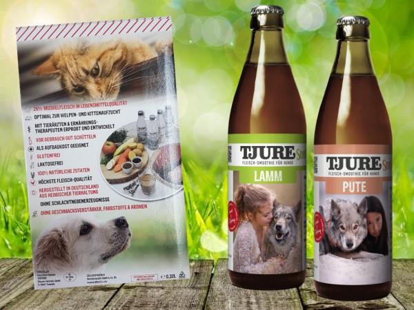 TJURE für Hunde - Mixpaket Lamm & Reis + Pute & Reis