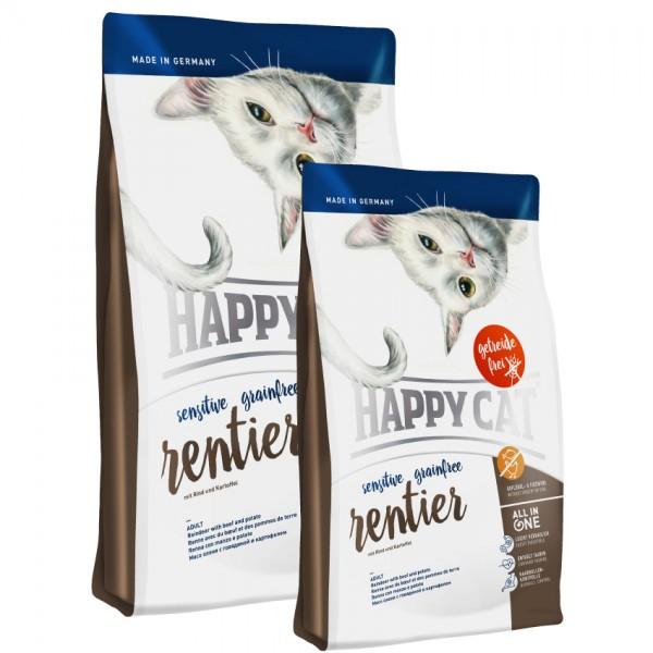 Happy Cat Sensitive Grainfree Rentier 3 x 4 kg