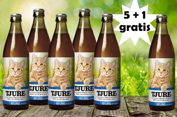 TJURE für Katze - Geflügel & Kartoffel 5 +1 GRATIS