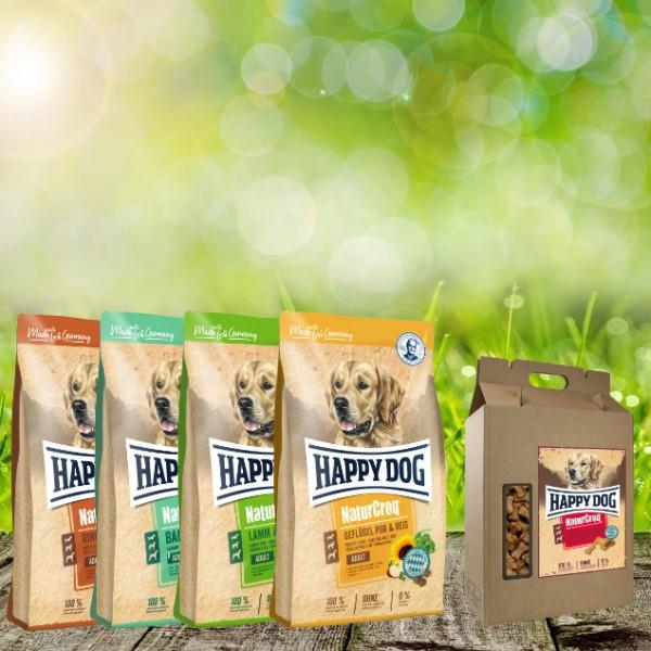 NaturCroq Hundefutter 4 x 4 kg sortiert + 5 kg Belohungssnack NC Mini Truthahn Knochen geschenkt