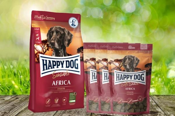 Happy Dog Supreme Africa 12,5 kg + 3 x 100 g. Happy Dog Soft Snack Africa geschenkt