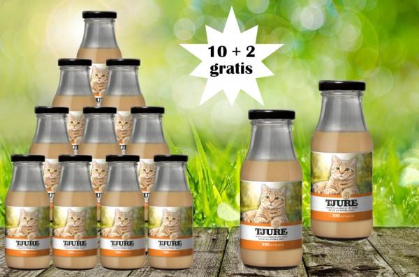 TJURE für Katze - Rind & Kartoffel 10 + 2 GRATIS