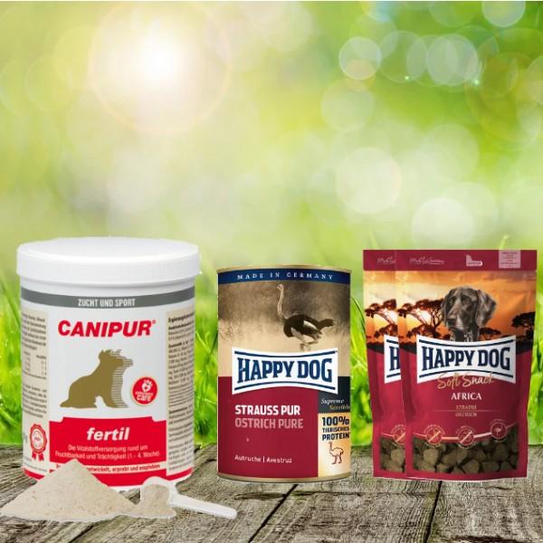 Canipur fertil 500 g + 2 HD Soft Snack Afrika + 1 HD Strauß pur 400 g