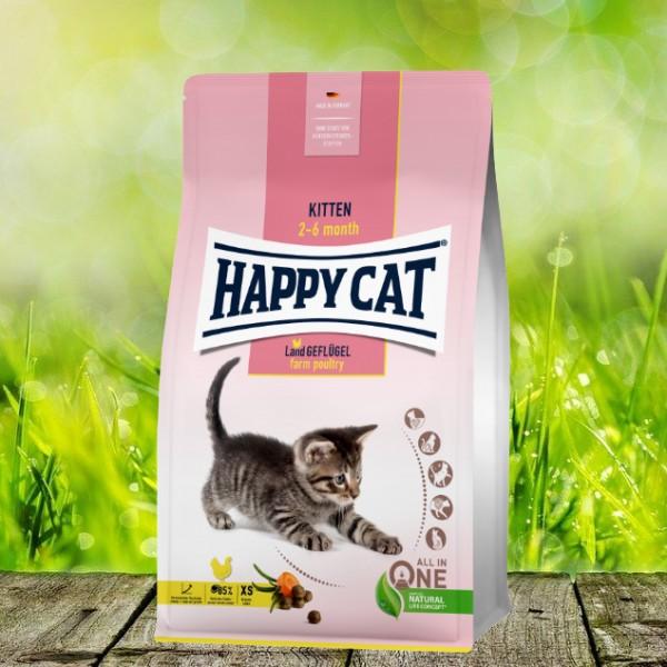 Happy Cat Young Kitten Land-Geflügel 4 kg