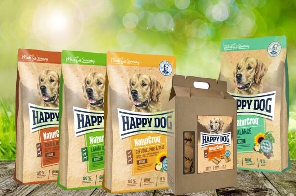 NaturCroq Hundefutter 4 x 4 kg sortiert + 5 kg Belohungssnack NC Hundekuchen geschenkt