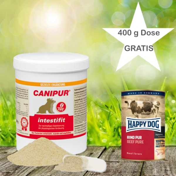Canipur intestifit 150 g+ 400g Happy Dog Pur Dose *Gratis*