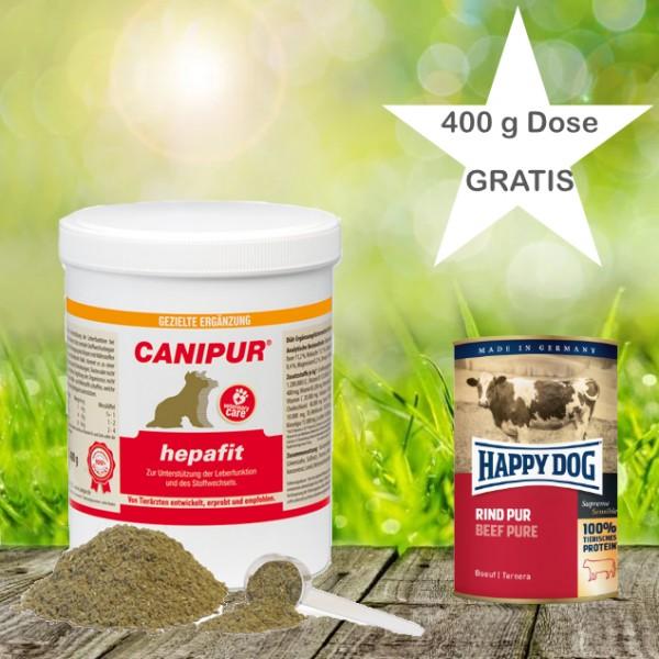 Canipur hepafit 400 g+ 400g Happy Dog Pur Dose *Gratis*