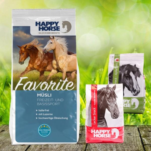 "Happy Horse ""Favorite"" 14 kg *NEW* + 2 x 1 Kg Happy Horse Lecker Snack"