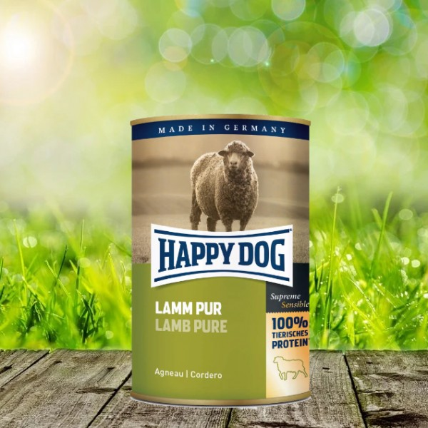 Happy Dog Dosen Lamm Pur 12 x 400 Gramm