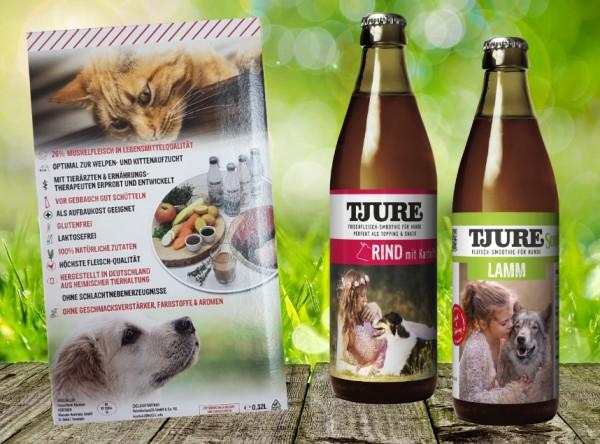 TJURE für Hunde - Mixpaket Lamm & Reis + Rind & Kartoffel