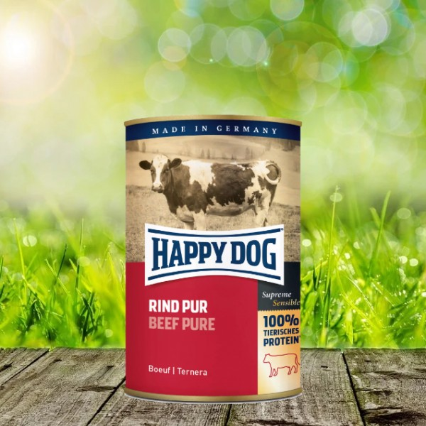 Happy Dog Dosen Rind Pur 6 x 800 Gramm