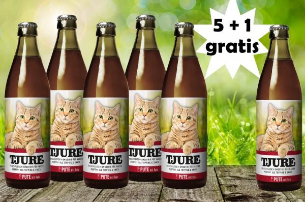 TJURE für Katze - Pute & Reis 5 +1 GRATIS