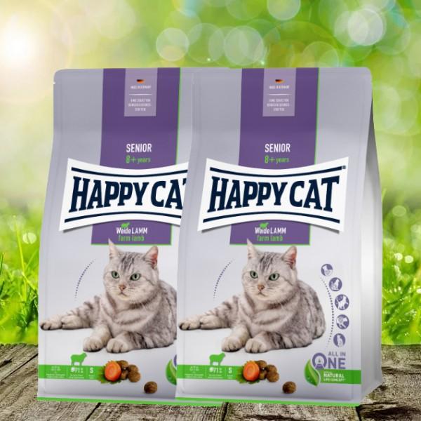 Happy Cat Senior Weide-Lamm 2 x 4 kg