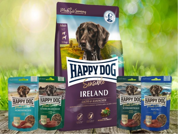 Happy Dog Supreme Irland 12,5 kg + Meat Snack 4 x 75 g sortiert