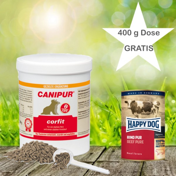 Canipur corfit 500g + 400g Happy Dog Pur Dose *Gratis*
