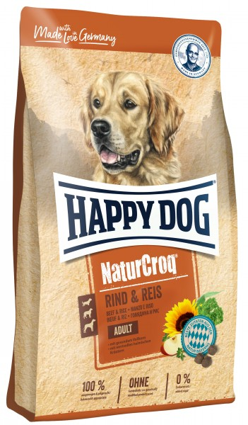 Happy Dog Premium NaturCroq Rind und Reis