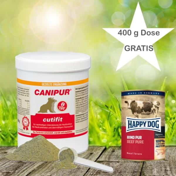 Canipur cutifit 500 g + 400g Happy Dog Pur Dose *Gratis*