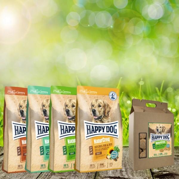 NaturCroq Hundefutter 4 x 4 kg sortiert + 5 kg Belohungssnack NC Lamm & Reis Taler geschenkt