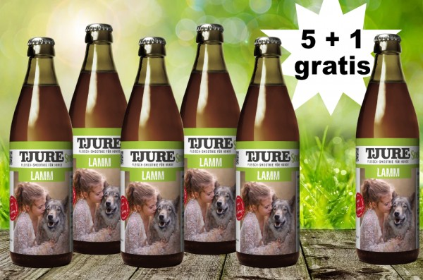 TJURE für Hunde - Lamm & Reis 5 + 1 GRATIS