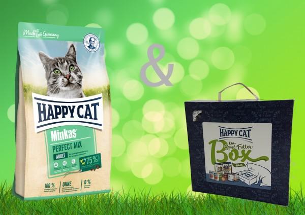 Happy Cat Minkas Perfect Mix Adult 10 kg + Spiel-Futter-Box Adult