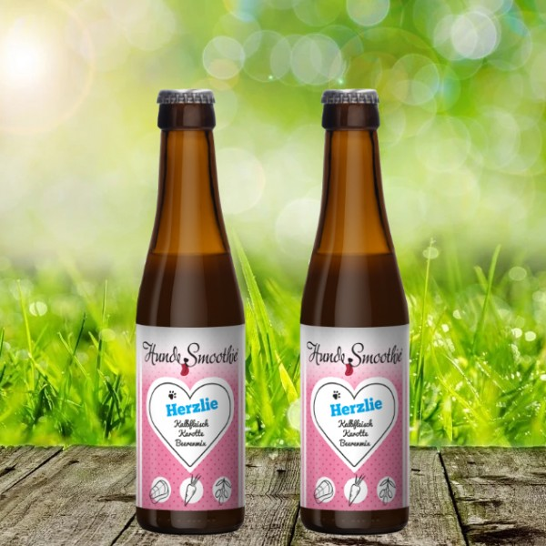 "Tjure Hunde-Smoothie ""Herzlie"" - Doppelpack (2 x 220 ml)"
