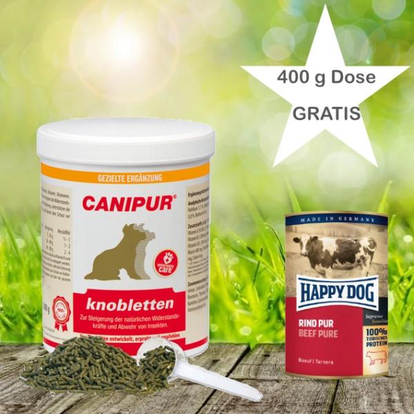 Canipur knobletten 1000 g + 400g Happy Dog Pur Dose *Gratis*